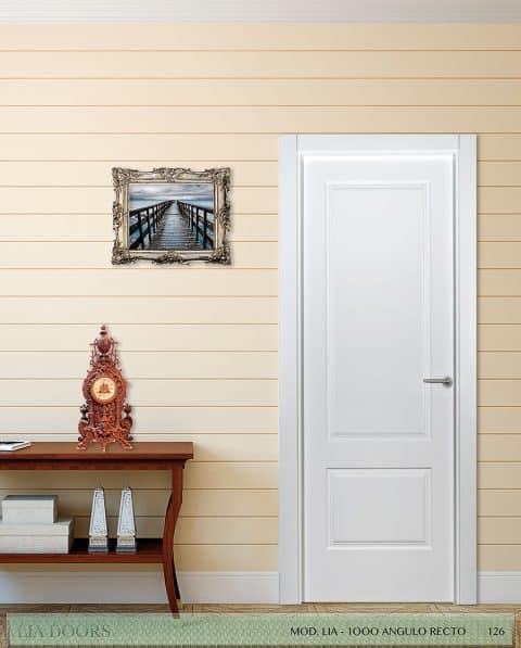 Puerta lacada Diseño Grupo D en block Ciega BL Modelo 1000 Angulo Recto