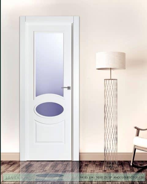 Puerta lacada Diseño Grupo D en block 2V BL Modelo 1010 SP Angulo Recto