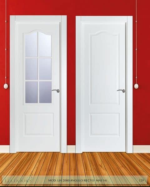 Puerta lacada Diseño Grupo D en block Ciega BL Modelo 2000 Angulo Recto