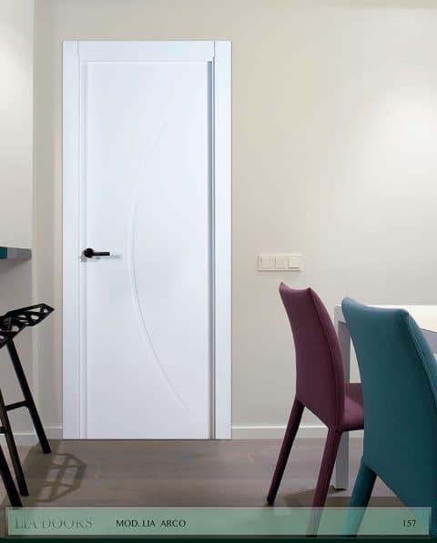 Puerta lacada Diseño Grupo B en block Ciega BL Modelo Arco
