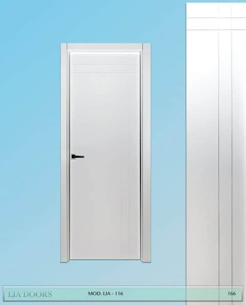 Puerta lacada Diseño Grupo A en block Ciega BL Modelo 116