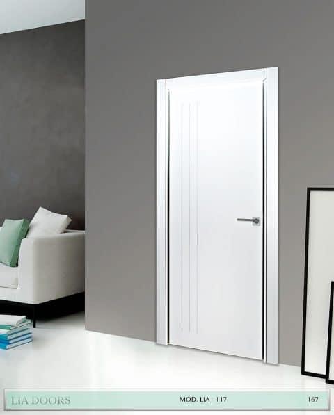 Puerta lacada Diseño Grupo A en block Ciega BL Modelo 117