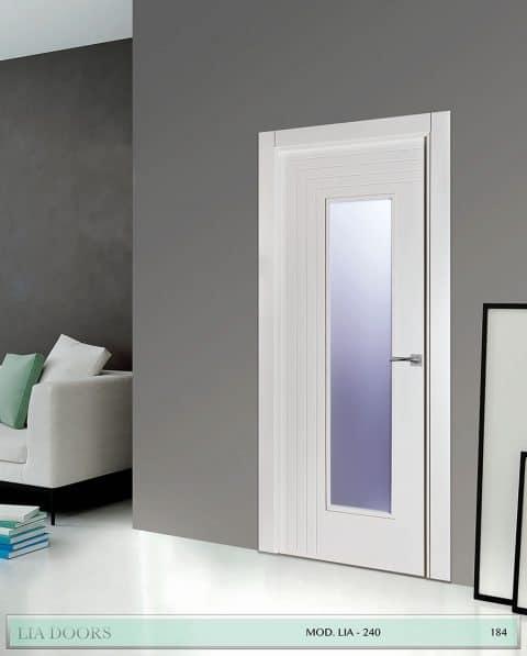 Puerta lacada Diseño Grupo A en block 1V BL Modelo 240 SP