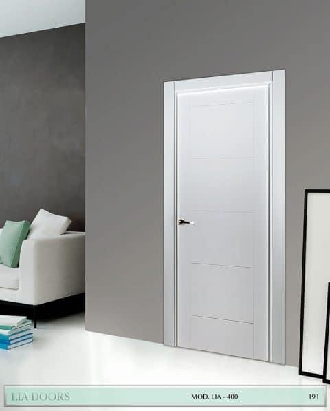Puerta lacada Diseño Grupo A en block Ciega BL Modelo 400