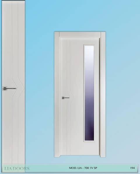 Puerta lacada Diseño Grupo A en block 1V BL Modelo 700 SP