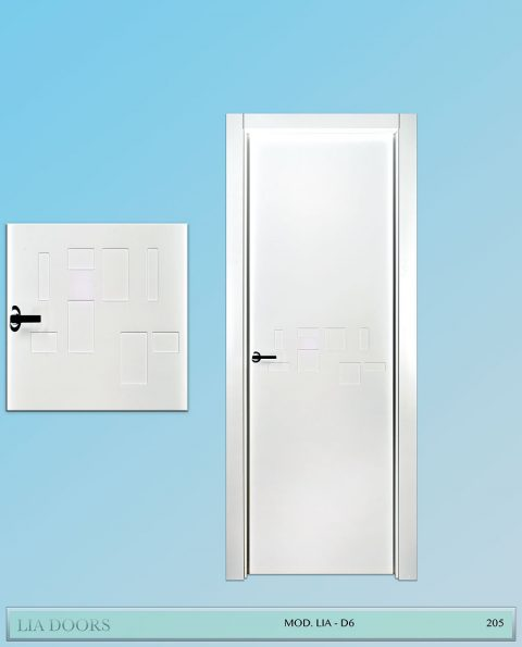 Puerta lacada Diseño Grupo B en block Ciega BL Modelo D6