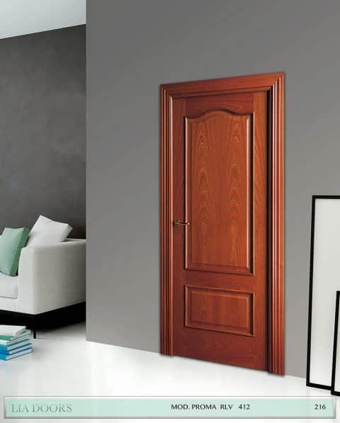 Puerta barniz Sapelly Proma RLV en block Ciega BL Modelo 412