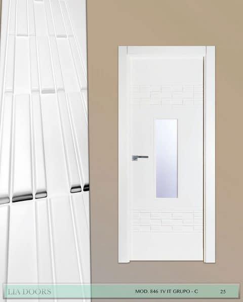 Puerta lacada diseño Grupo C en block 1V BL Modelo 846 IT
