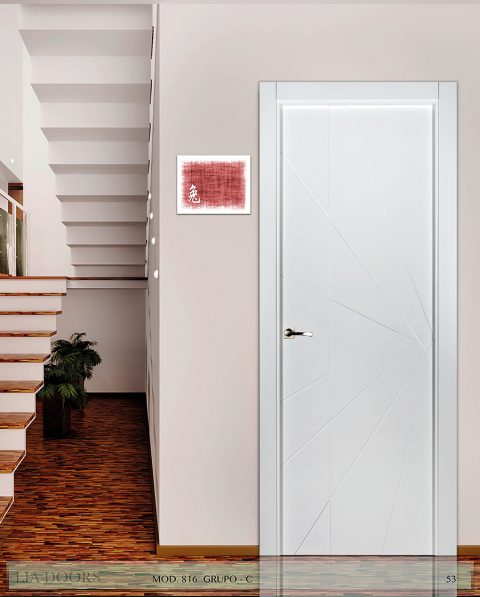 Puerta lacada Diseño Grupo C en block Ciega BL Modelo 816