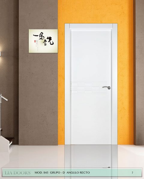 Puerta lacada Diseño Grupo D en block ciega BL Modelo 845