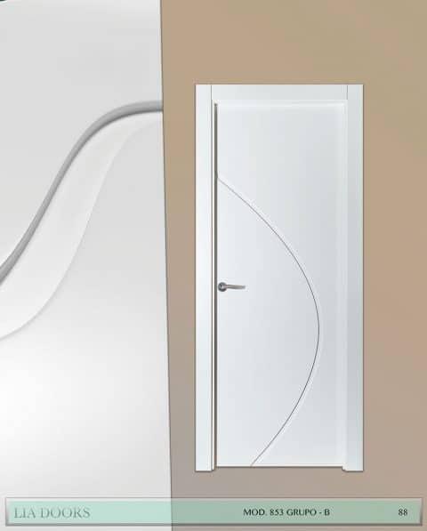 Puerta lacada Diseño Grupo B en block Ciega BL Modelo 853