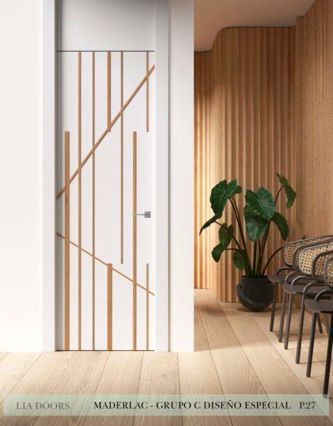 Puerta lacada Diseño Especial Grupo C en block Ciega BL Maderlac