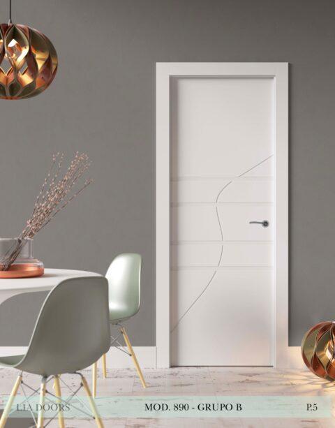 Puerta lacada Diseño Grupo B en block Ciega BL Modelo 890