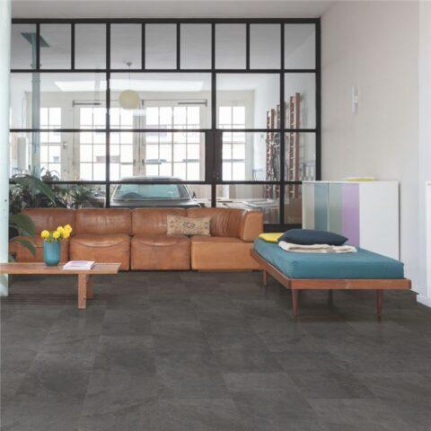 Suelo Vinílico Quick Step Alpha Vinyl Tiles Pizarra Negra AVST40035